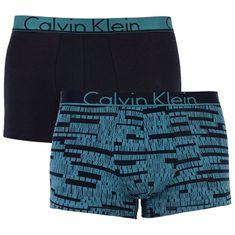 f0a7bbd202 Calvin Klein Pánske boxerky ID Cotton 2P Trunk Bloc k Imprint Raleigh Black  w.