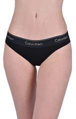 Calvin Klein Dámské kalhotky Monogram Bikini Black w/gold logo QF5045E-7LN
