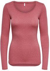 ONLY T-shirt damski na Live Love Nowy Ls O-neck Top Noos Baroque Rose Melange