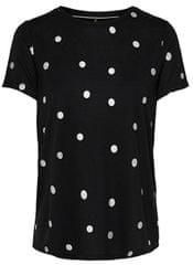 ONLY Koszulka damska Isabella S/S Foil Aop Top Box Jrs Black Dość Silver