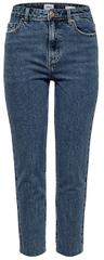 ONLY Jeans dla kobiet Emily Hw St Raw Ank Db Mae 0005 Noos Dark DenimBlue