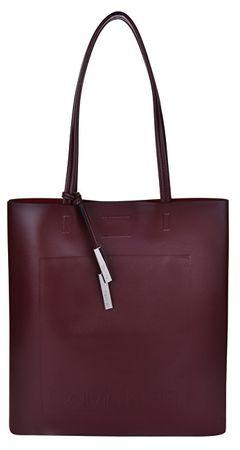 Calvin Klein Dámská kabelka Novelty Logo Tote Bag - Merlot