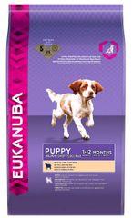 Eukanuba suha hrana za mladiče Puppy Small / Medium Breed, jagnjetina & riž, 18 kg