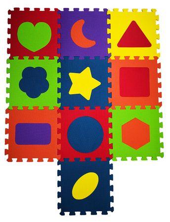 COSING Hab alátét puzzle Alakzatok - 10 db
