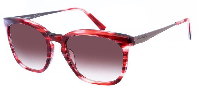 Karl Lagerfeld damskie bordowe okulary przeciwsłoneczne