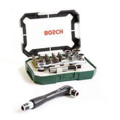 Bosch 26-delni komplet z zaponko + dvostranski izvijač (2607017393)