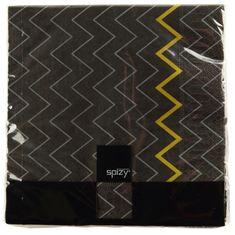 Design Scandinavia Servítky 33x33 cm, čierna s krivkami