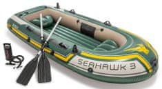 Intex zestaw ponton Seahawk 3 z ręczną pompką i aluminiowymi wiosłami