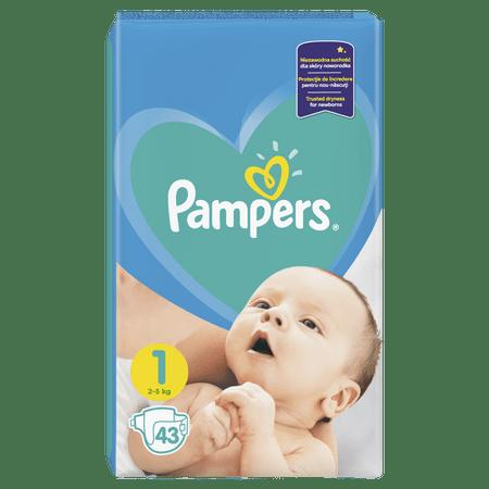 Pampers New Baby 1 (2-5 kg) Newborn 43 db
