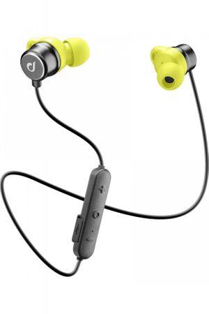 CellularLine ušesne Bluetooth športne slušalke Run, črna/rumena