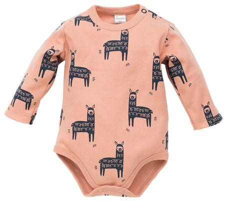PINOKIO otroški bodi Happy Llama, 80, rjav