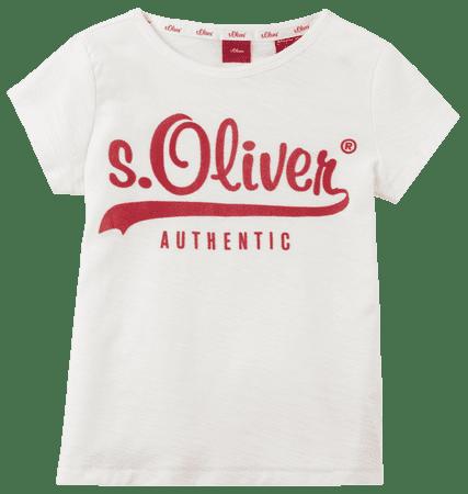 s.Oliver dívčí tričko 104 - 110 bílá