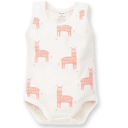 PINOKIO body dziecięce Happy Llama 62 białe