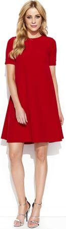 Makadamia dámské šaty 36 červená