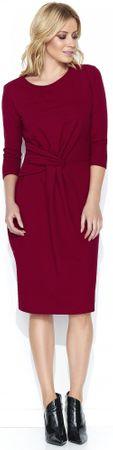 Makadamia dámské šaty m462 36 vínová