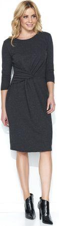 Makadamia dámské šaty m462 36 tmavě šedá