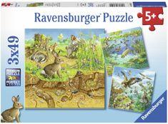 Ravensburger Állatok a természetben 3x49 darab