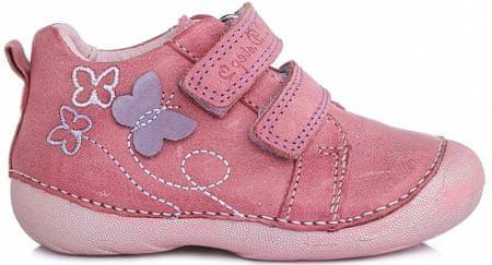 D-D-step botki dziewczęce z motylkiem 19 różowe