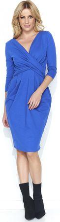Makadamia ženska obleka m463, 42, modra