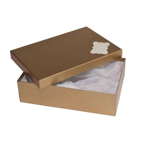 Giftisimo Dárková krabice se jmenovkou a hedvábným papírem - Max, zlatá