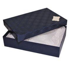 Giftisimo Dárková krabice se jmenovkou a hedvábným papírem - Sabina, modrá