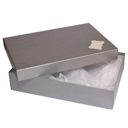 Giftisimo Dárková krabice se jmenovkou a hedvábným papírem - Sabina, stříbrná