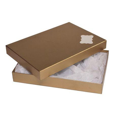 Giftisimo Dárková krabice se jmenovkou a hedvábným papírem - Ilona, zlatá