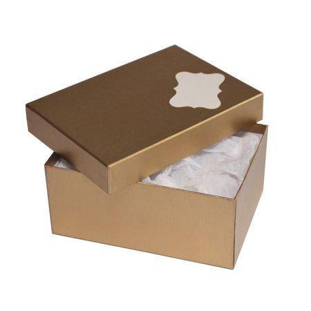 Giftisimo Dárková krabice se jmenovkou a hedvábným papírem - Hana, zlatá