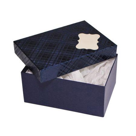 Giftisimo Dárková krabice se jmenovkou a hedvábným papírem - Hana, modrá