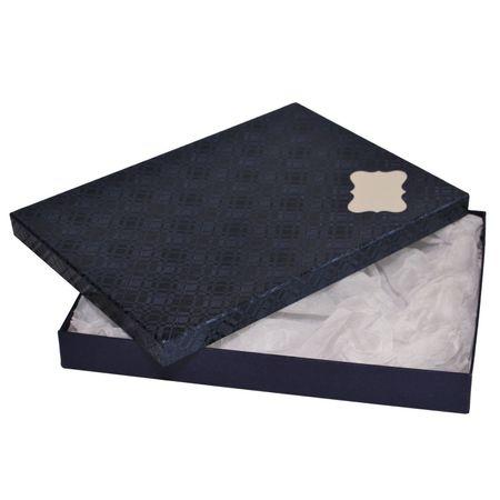 Giftisimo Dárková krabice se jmenovkou a hedvábným papírem - Ilona, modrá