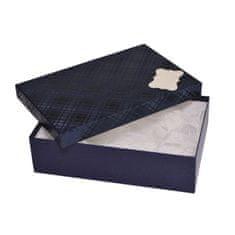 Giftisimo Dárková krabice se jmenovkou a hedvábným papírem - Max, modrá