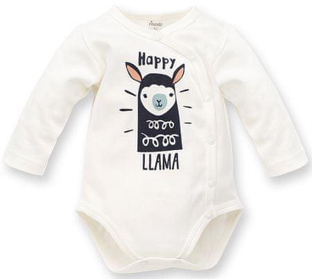 Pinokio kapcsos gyerek body Happy Llama 56 fehér