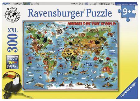 Ravensburger Ilustrovaná mapa světa 300 dílků
