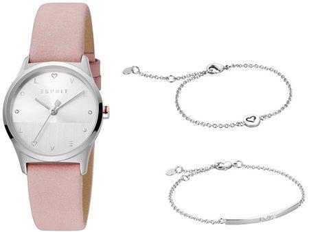 Esprit Ajándék szett - óra és 2 karkötő Heart SET ES1L092L0035