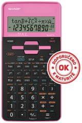 Sharp tehnični kalkulator EL531THBPK, črn-roza