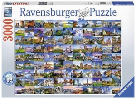 Ravensburger sestavljanka 99 lepih krajev Evrope, 3000 kosov