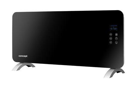CONCEPT KS4010 Konvektor skleněný s montáží na zeď a dálkovým ovládáním černý