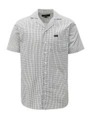 Makia černo-bílá kostkovaná regular fit košile