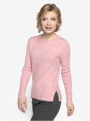 Oasis růžový svetr s kulatým výstřihem The perfect