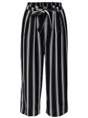 Rich & Royal tmavě modré pruhované volné kalhoty