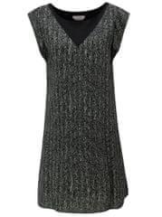 SKFK šedo-černé volné vzorované šaty Geretz