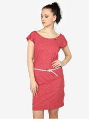 Ragwear červené žíhané šaty s pásky na zádech Sofia