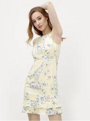 M&Co světle žluté květované šaty