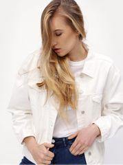MISSGUIDED bílá džínová bunda