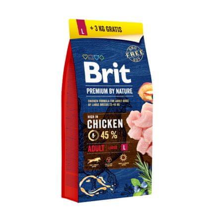 Brit Premium by Nature Adult L 15+3 kg Zdarma