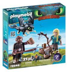 Playmobil Viki in Astrid z malim zmajem, 70040
