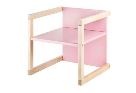 Wood Partner gyerekszék WENDY 3 az 1-ben lakk/rózsaszín