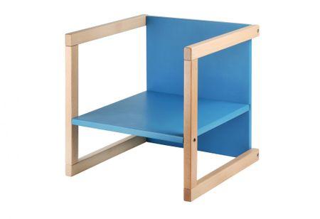 Wood Partner gyerekszék WENDY 3 az 1-ben lakk/kék