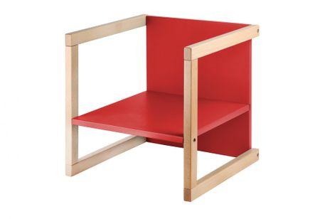 Wood Partner gyerekszék WENDY 3 az 1-ben1 lakk/piros