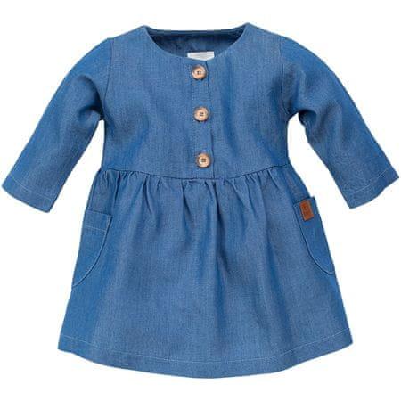 PINOKIO dívčí šaty Happy Llama 104 modrá